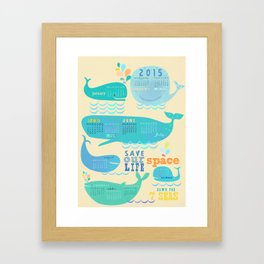 Wale Calender 2015 Framed Art Print