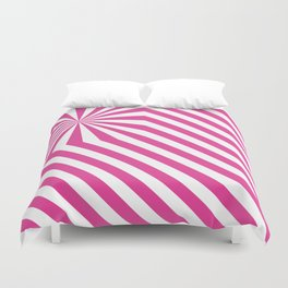 Stripes explosion - Pink Duvet Cover