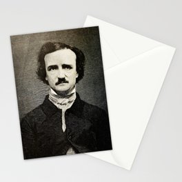 Edgar Allan Poe Engraving Stationery Cards