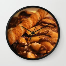 delicious chocolate cake with peanuts Wall Clock