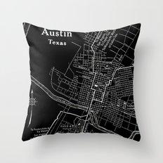 Vintage Austin Negative Throw Pillow