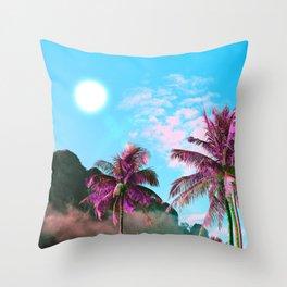 Nostalgia Island Throw Pillow