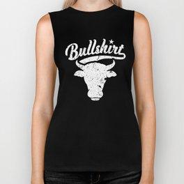 BullShirt Steer Bull Face Funny Puns Silly Humor Biker Tank