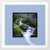Waterfall Susec with 3D pop out of frame effect Art Print