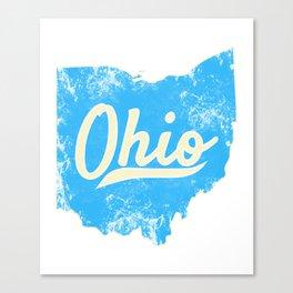 Ohio Gift I Love My Ohio Home Cleveland Cincinnati Akron OH Canvas Print
