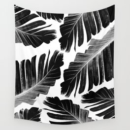 Tropical Black Banana Leaves Dream #1 #decor #art #society6 Wall Tapestry