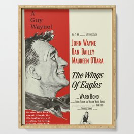 Classic Movie Poster - The Wings of Eagles Serving Tray