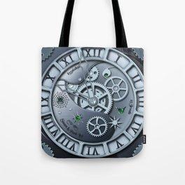 Steampunk clock silver Tote Bag