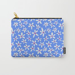 Blue Modern Blooms Carry-All Pouch