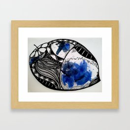 thoughts turned nuts Framed Art Print