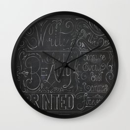Julie's Chalkboard Wall Clock