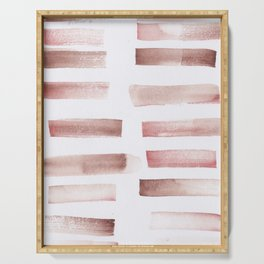 24  | 181101 Watercolour Palette Abstract Art | Lines | Stripes | Serving Tray