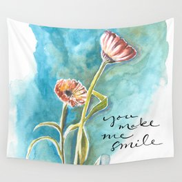 You Make Me Smile Wall Tapestry