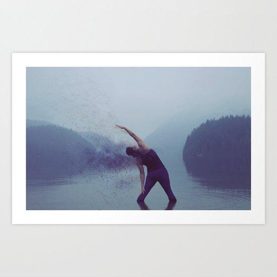 Yoga in the Fog Art Print