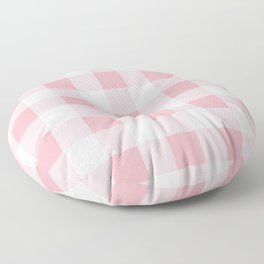Coral Gingham Pattern Floor Pillow