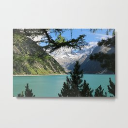 glacier and blue lake Metal Print