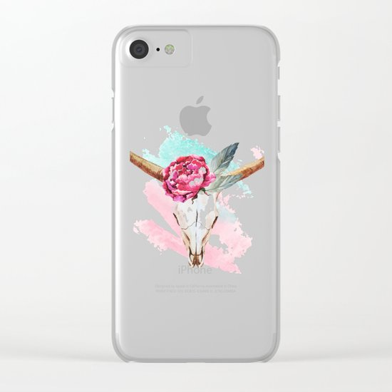 Animal Skull 05 Clear iPhone Case