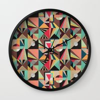 prism Wall Clocks featuring Prism by Kerry Lacy