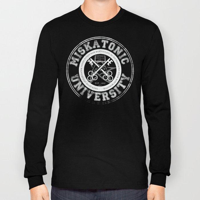 Miskatonic University Emblem (Dark version) Long Sleeve T-shirt