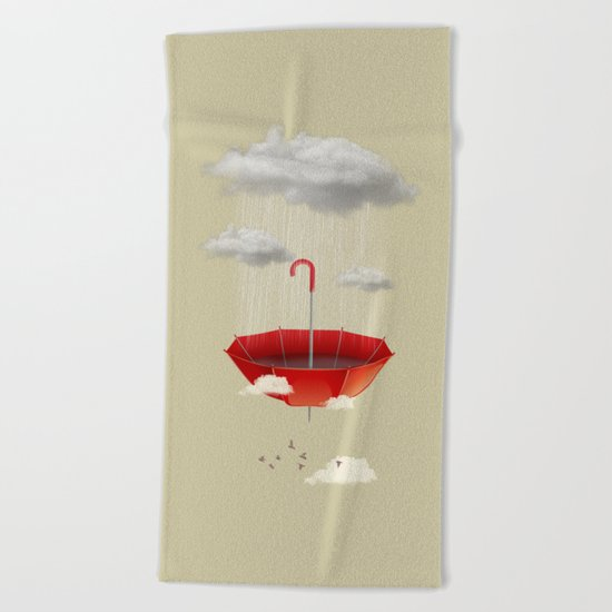 Saving the rain Beach Towel