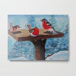 Les Oiseaux en Hiver Metal Print