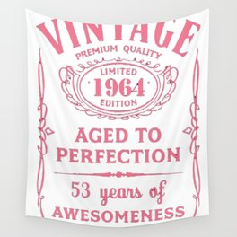 Pink-Vintage-Limited-1964-Edition---53rd-Birthday-Gift Wall Tapestry