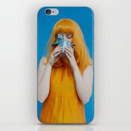 steph as me with bird iPhone Skin