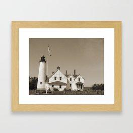 Point Iroquois Light Framed Art Print