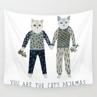 toddler Wall Tapestries featuring You are the Cat's Pajamas by Yuliya
