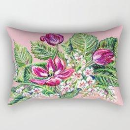 Tulips and aesculus Rectangular Pillow