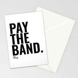 Pay The Band Stationery Cards