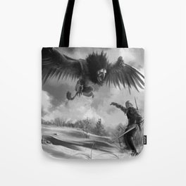 The beast of White Orchard Tote Bag
