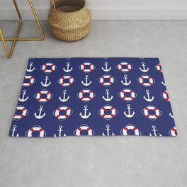 Nautical Pattern Rug