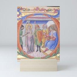 Sano di Pietro - Martyrdom of Saint Agatha in an Initial D Mini Art Print
