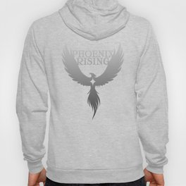 PHOENIX RISING grey with star center Hoody