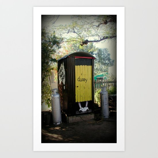 Dunny - Outback Queensland Humour :) Art Print