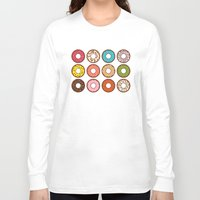 donuts Long Sleeve T-shirts featuring Donuts by TinyBee