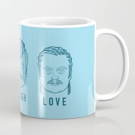 Live Laugh Love, Ron Swanson Coffee Mug