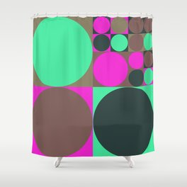 Squared Circles Shower Curtain