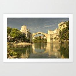 The Old Bridge at Mostar Art Print