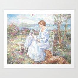 A Letter for Rose Art Print