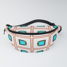 Turquoise geo Fanny Pack