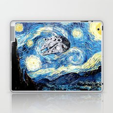 Falcon flies the Starry Night Laptop & iPad Skin