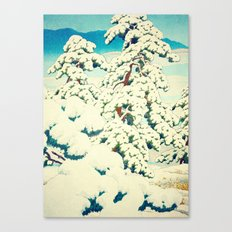 A Morning in the Snow Canvas Print
