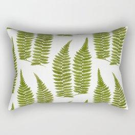 Watercolor Fern Pattern Rectangular Pillow