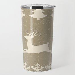 Rain deer Candy Cane - Cream Puff Travel Mug