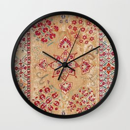 Bokhara Suzani Antique Uzbekistan Embroidery Print Wall Clock