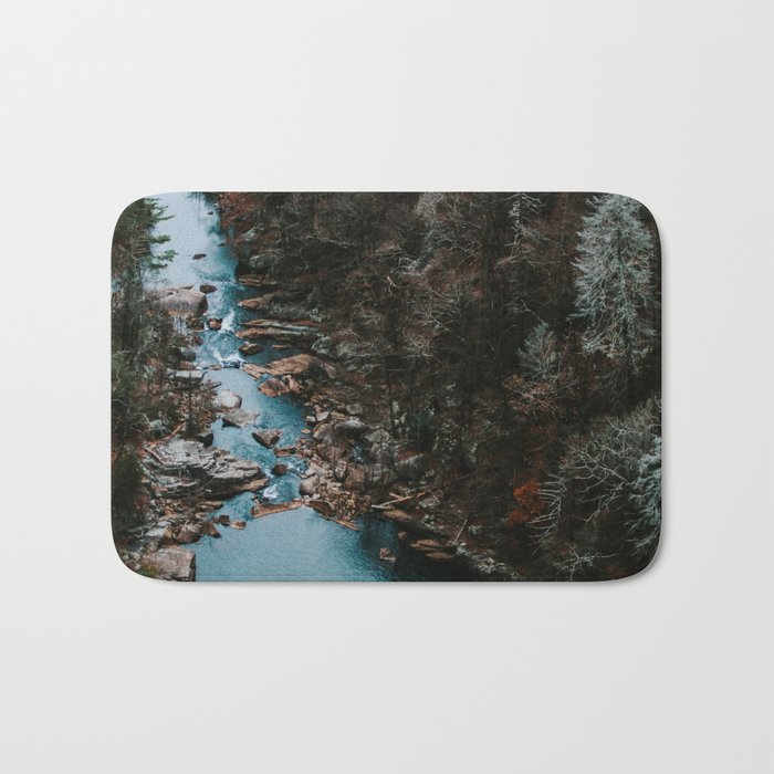 Blue Creek #landscape #society6 Bath Mat
