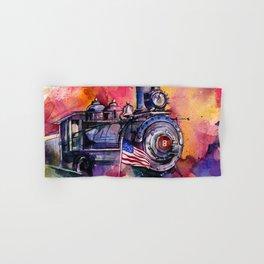 American Train by Kathy Morton Stanion Hand & Bath Towel