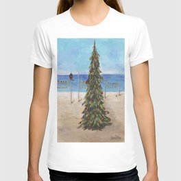 Christmas Tree at the Beach T-shirt